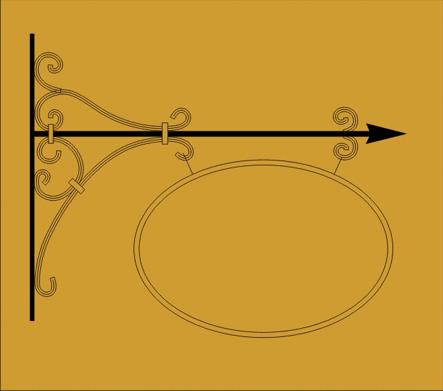 Vývěsní štít - kovaný - 2